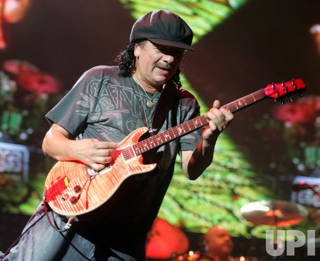 Santana performs in concert in West Palm Beach, Florida