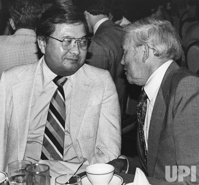 Daniel Inouye and Douglas Fraser talk about Democratic Party issues