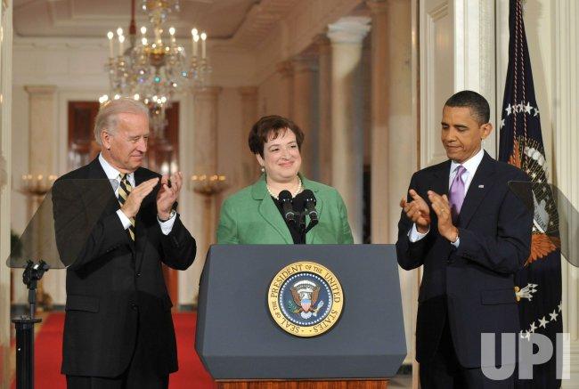 President Obama annouces Elena Kagan as his Supreme Court nominee in Washington