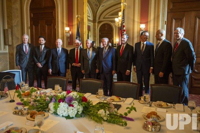 Senator Bob Menendez Hosts Meeting with Jordan King Abdullah in Washington DC