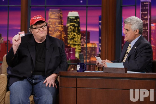 "MICHAEL MOORE SUBPOENAED BY BUSH ADMINISTRATION ON ""TONIGHT SHOW"" IN BURBANK, CALIFORNIA"