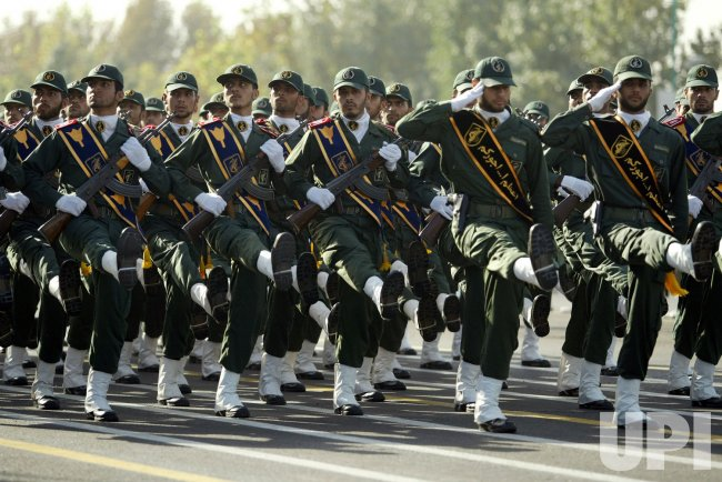 Iran's parade marking the 28th anniversary of the outset of the Iran-Iraq war (1980-1988) in Tehran