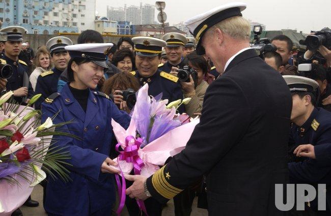 USS BLUE RIDGE PORTS IN SHANGHAI
