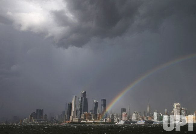 Rainbow Over New York City After a Thunderstorm