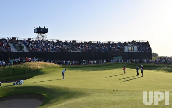 Louis Oosthuizen on the third day of the 149th Open Championship at Royal St George's.