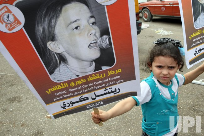 American Activist Rachel Corrie Who Was Crushed by an Israeli Army Bulldozer in Gaza