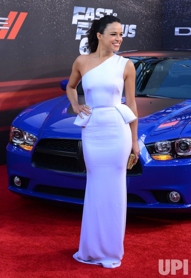 "Michelle Rodriguez attend the ""Fast & Furious 6"" premiere in Llos Angeles"