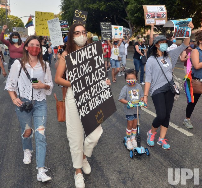 Hundreds March in Protest of Supreme Court Nomination in LA