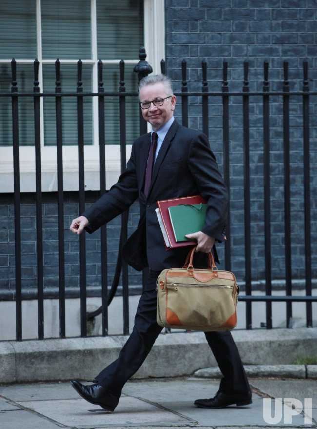 Michael Gove arrives at Cabinet meeting at No.10 Downing St