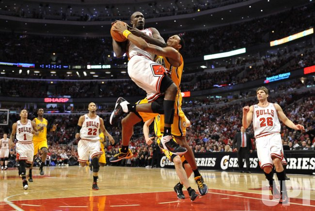 Pacers Rush fouls Bulls Deng in Chicago
