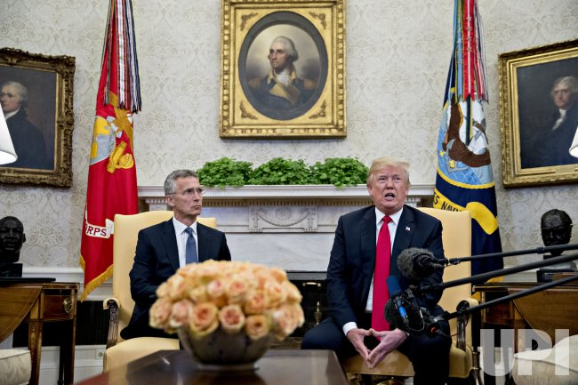 President Trump Hosts NATO's Secretary General Jens Stoltenberg