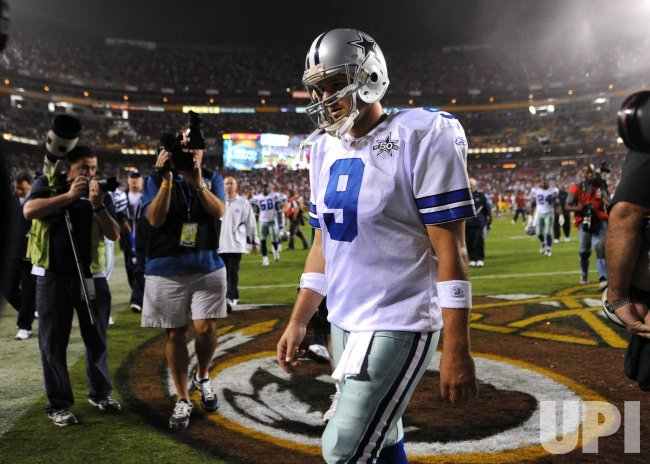 Dallas Cowboys' quarterback Tony Romo in Washington