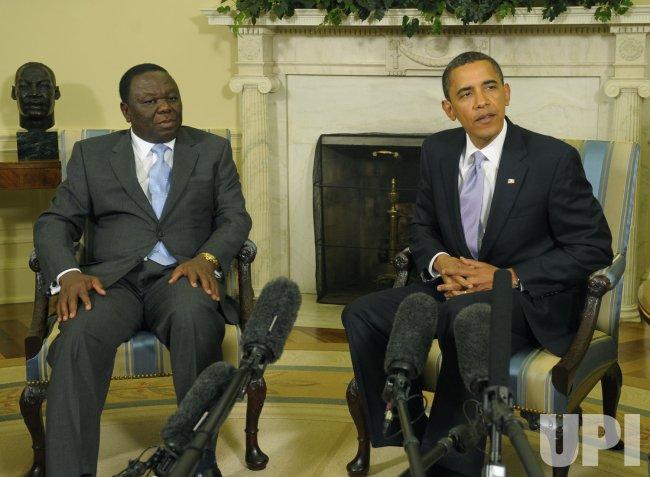 President Obama meets with the Prime Minister of Zimbabwe Morgan Tsvangirai in Washington