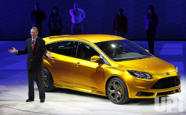 Ford President and CEO Mulally introduces new car at the 2011 NAIAS in Detroit, MI.