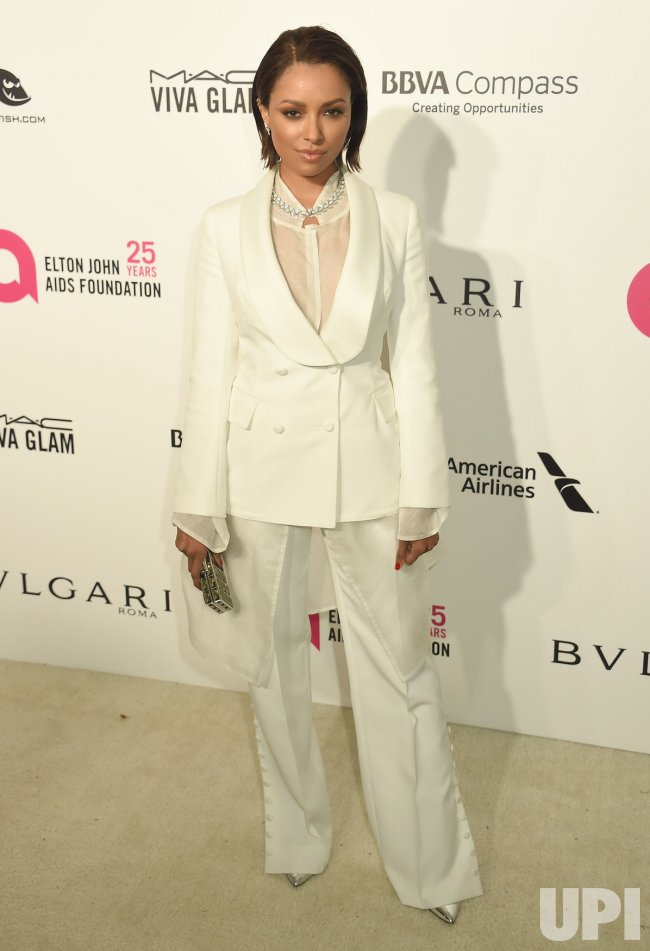 Kat Graham attends the Elton John Aids Foundation Oscar viewing party in Los Angeles