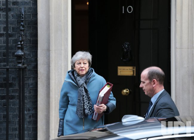 Theresa May leaves No.10 Downing St