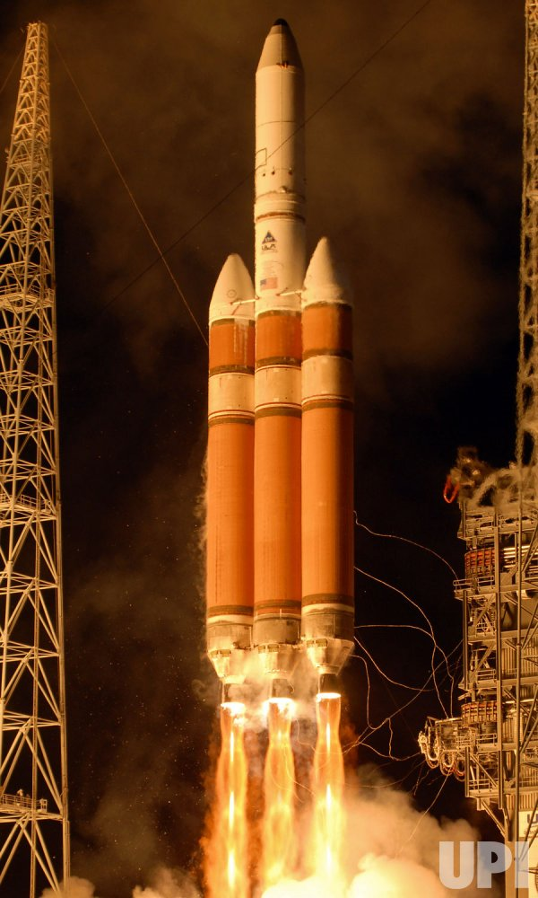 "Boeing Delta IV ""Heavy"" rocket launches a classified satellite from Cape Canaveral, Florida"