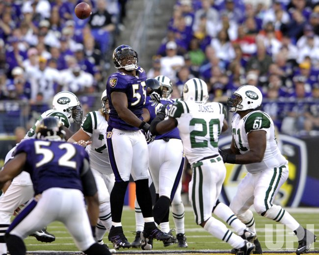 NEW YORK JETS VS BALTIMORE RAVENS IN BALTIMORE