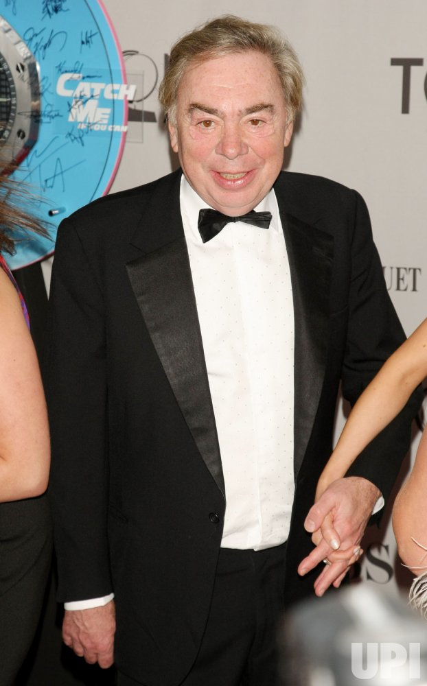 Andrew Lloyd Webber arrives attends the 65th Annual Tony Awards held in New York