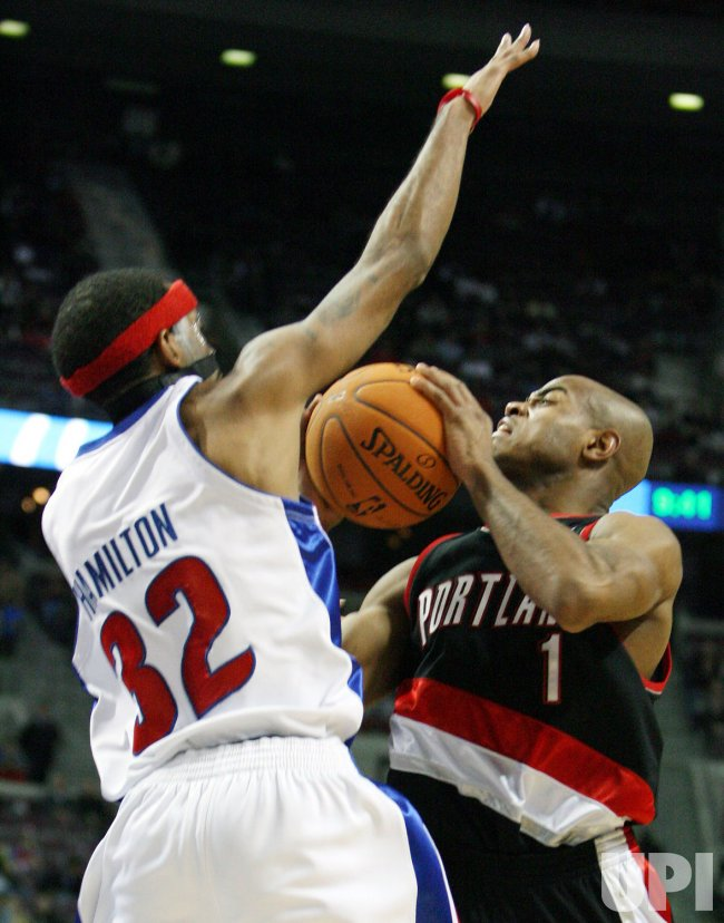 DETROIT PISTONS VS PORTLAND TRAILBLAZERS