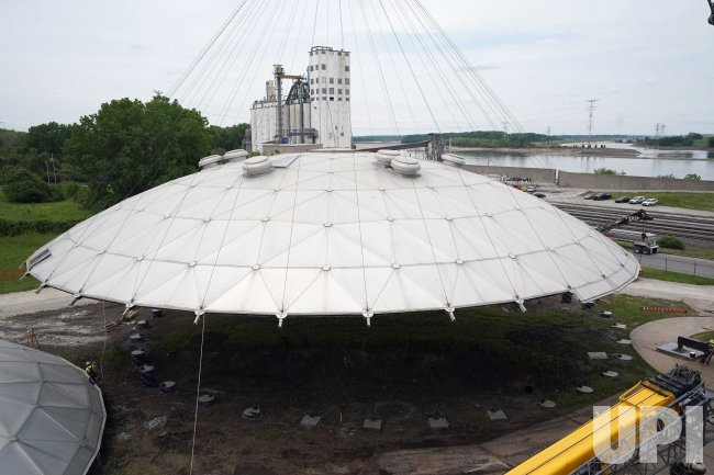 Domes Removed At Wastewater Plant