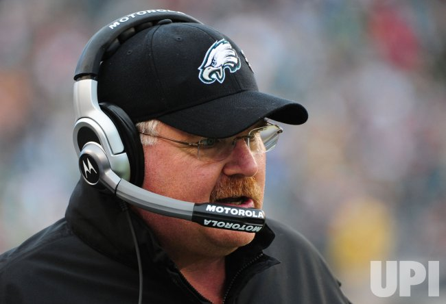 Eagles' coach Andy Reid in action in Philadelphia