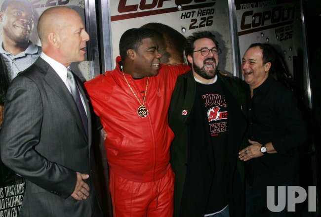 "Bruce Willis, Tracy Morgan, Kevin Smith and Kevin Pollak arrive for the ""Cop Out"" Premiere in New York"
