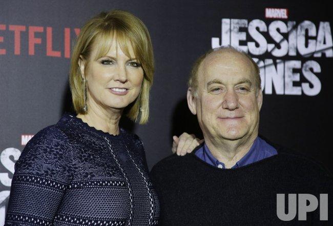 Melissa Rosenberg and Jeph Loeb at Jessica Jones premiere