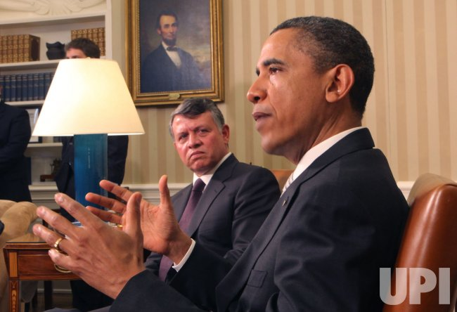 President Barack Obama meets with King Abdullah II of Jordan in Washington