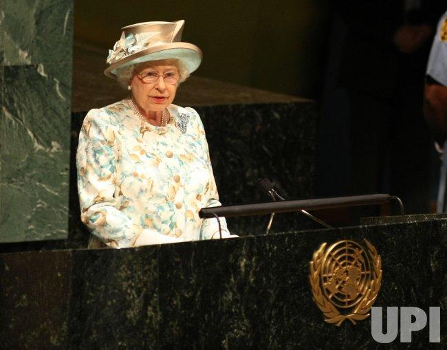 Queen Elizabeth II addresses the United Nations