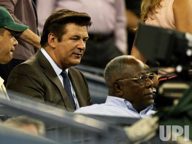 Alex Baldwin Hank Aaron attend the U.S. Open in New York
