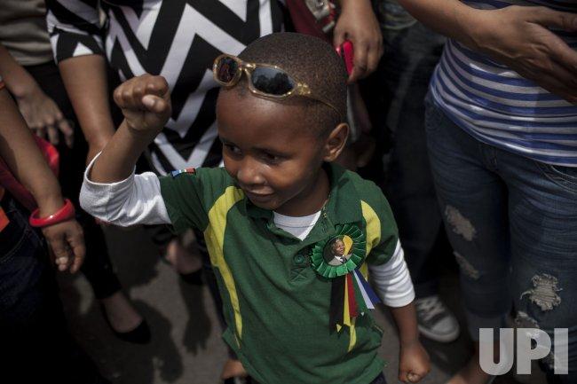 People Celebrate the Life of Nelson Mandela in Johannesburg