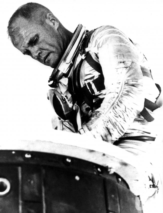 JOHN GLENN DURING MERCURY-ATLAS 6 PRE-FLIGHT TRAINING