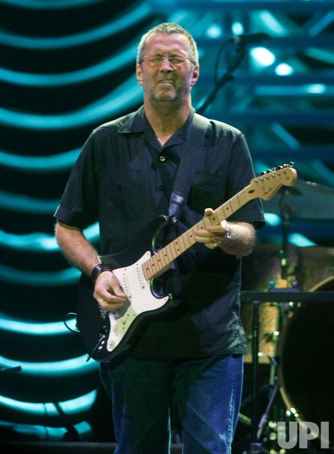 ERIC CLAPTON PERFORMS AT VANCOUVER'S GM PLACE