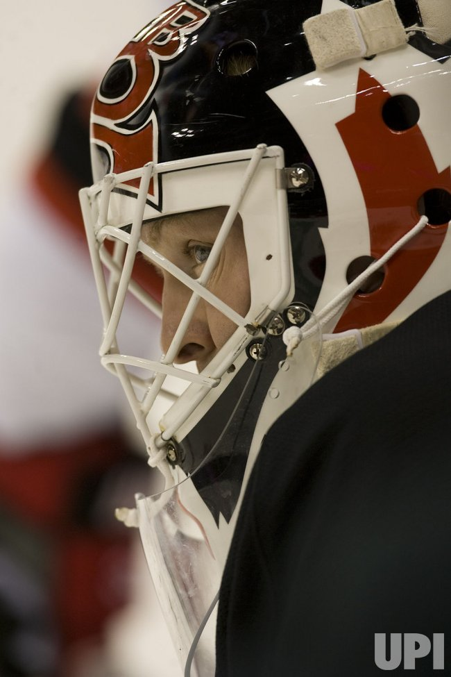 Devils Brodeur Watches Avalanche in Denver