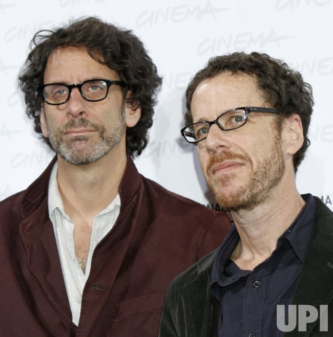 Joel and Ethan Coen arrive at a photocall during the Rome International Film Festival