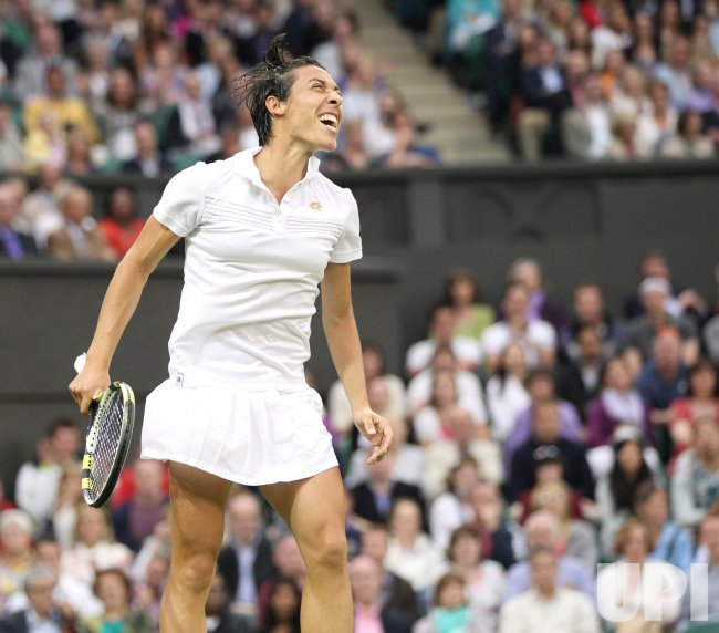 Schiavone wins at Wimbledon.