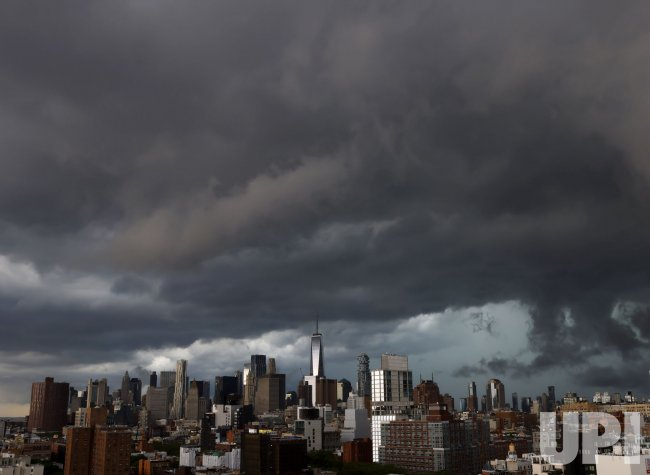 Storm Clouds Over the Manhattan Skyline in New York