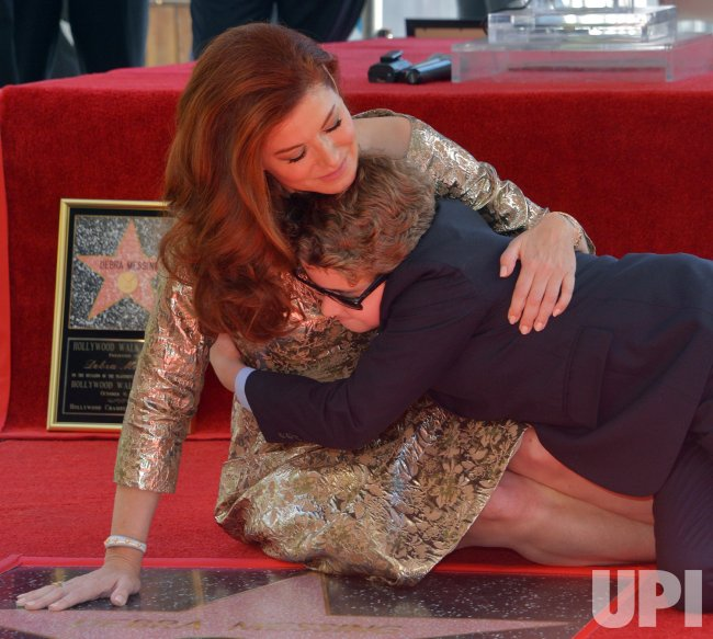 Debra Messing honored with star on the Hollywood Walk of Fame in Los Angeles