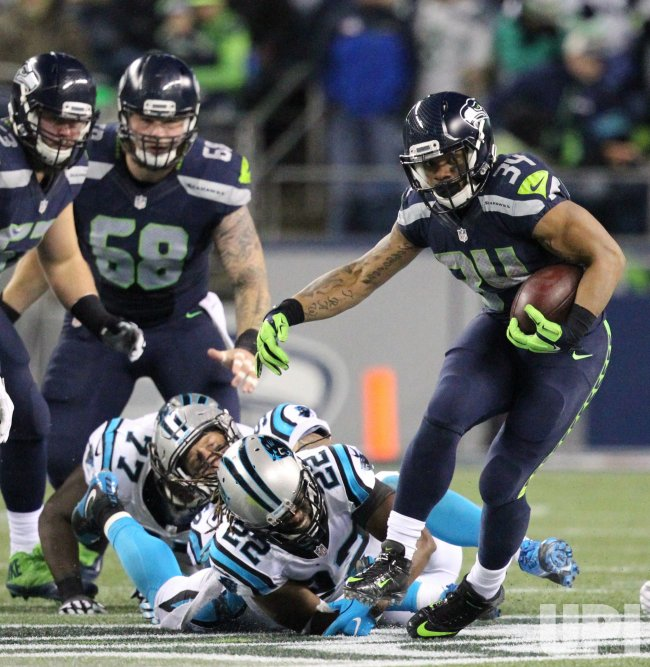 Seattle Seahawks beat the Carolina Panthers 40-7 in Seattle