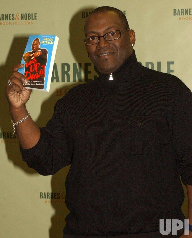 RANDY JACKSON OF TV SERIES AMERICAN IDOL PROMOS HIS BOOK