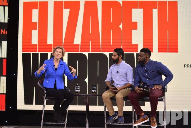 Democratic candidate Elizabeth Warren attends Brown & Black Presidential Forum in Iowa