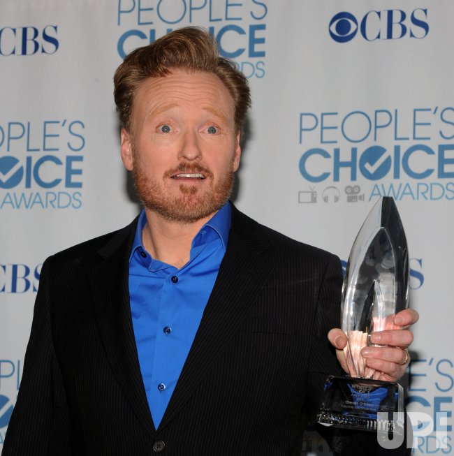 Conan O'Brien garners award at the People's Choice Awards in Los Angeles