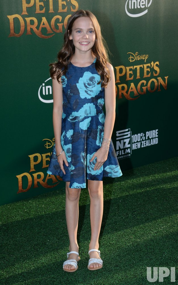 """Oona Laurence attends the """"Pete's Dragon"""" premiere in Los ..."""
