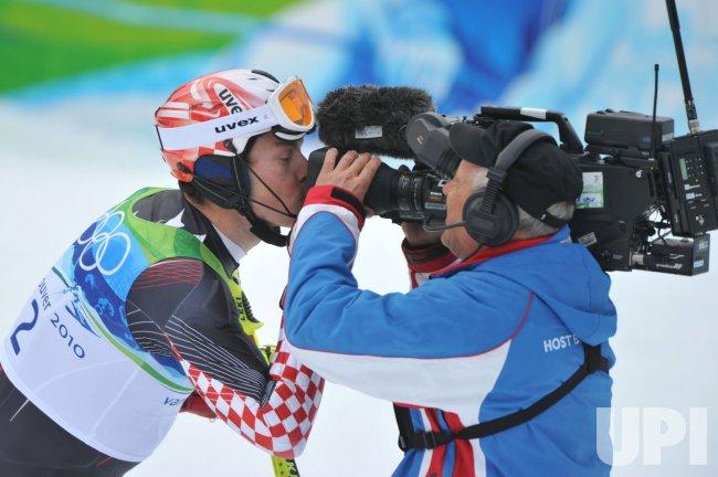 Croatia's Ivica Kostelic wins silver in the Men's' Slalom in Whistler