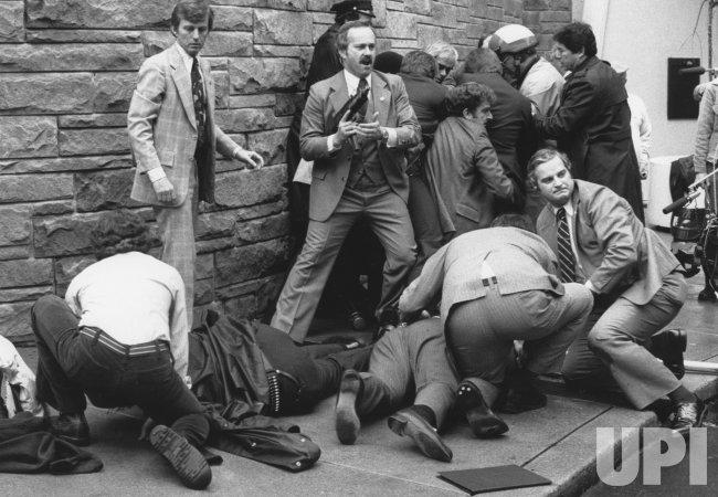 Press Secretary James Brady wounded in Hinckley's attempt to kill pres. Ronald Reagan