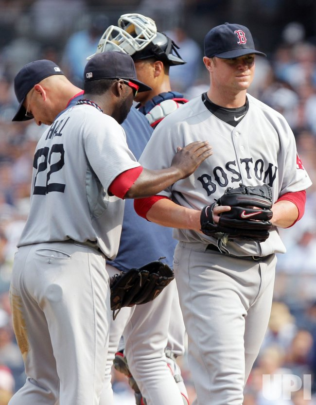 Boston Red Sox starting pitcher Jon Lester at Yankee Stadium in New York