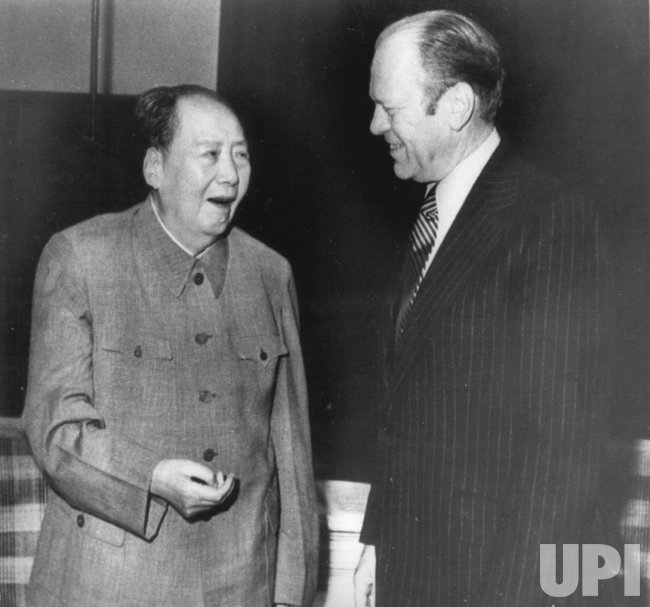 President Gerald Ford meets with Chairman Mao Tse-tung in Peking