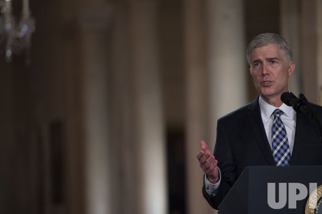 Judge Gorsuch speaks after President Trump announced him as his nominee for Supreme Court of the United States
