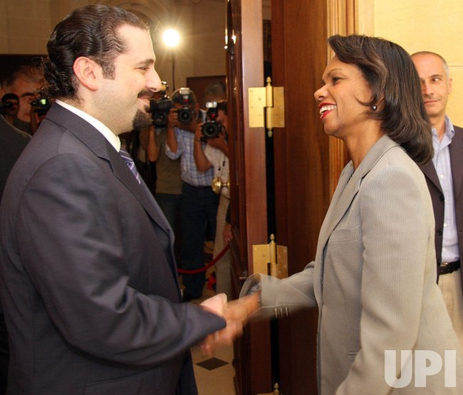 U.S. Secretary of State Condoleezza Rice makes an unannounced visit to Lebanon